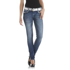 Bongo Junior's Skinny Jeans & Belt - Embellished at Sears.com