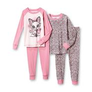 Joe Boxer Girl's 2 Pairs Pajamas - Glitter Fox at Kmart.com