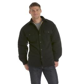 Basic Editions Men's Fleece Shirt Jacket - Solid at Kmart.com