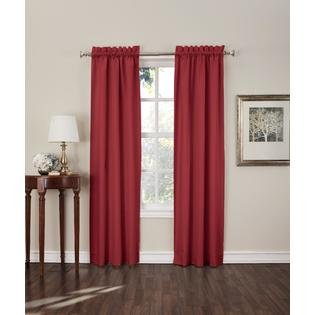 Sun Zero  Shawn 2-Pack Blackout Curtain Panels Red