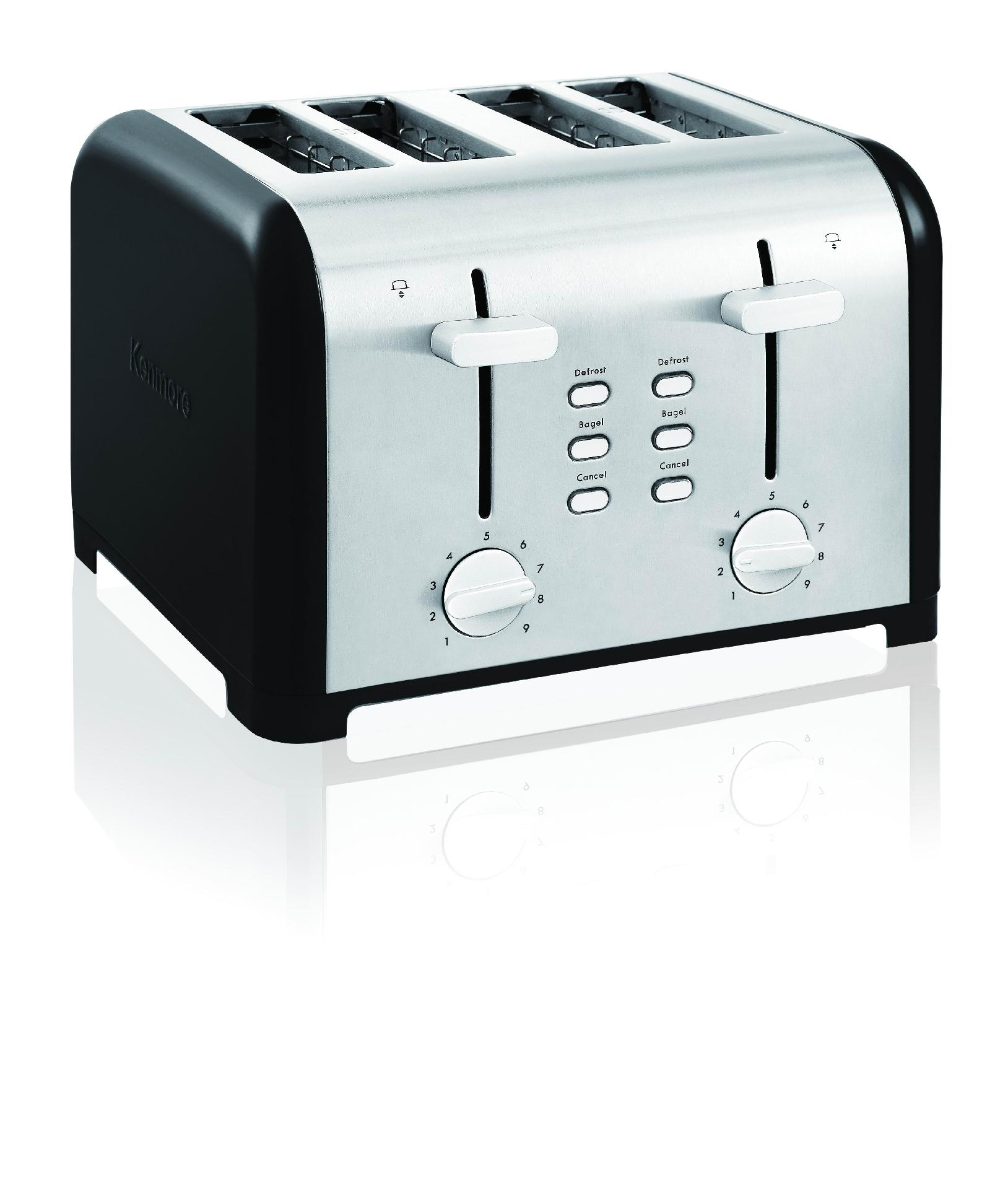 Kenmore Black Four-Slice Toaster