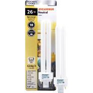 "Sylvania Fluorescent 6.5"" Bright White Double U-Tube Lamp T12-G24Q-3 Base 120V Light Bulb 26W Equivalent 120W - Single Bulb at Sears.com"