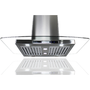"AKDY 30"" Kitchen Island Mount Stainless Steel Range Hood Vent w/Baffle Filters AK-GL9004-30 at Sears.com"