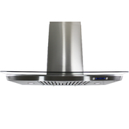 "AKDY 36"" European Style Island Mount Stainless Steel Range Hood Vent Touch Control 9007-36 at Sears.com"