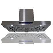 AKDY European Style Island Mount Stainless Steel Range Hood Vent Touch Control AZ-GL9010-1-36 at Sears.com