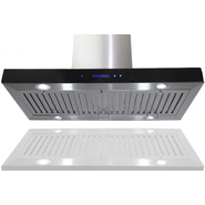"AKDY 36"" European Style Island Mount Stainless Steel Range Hood Vent Touch Control GL9010-2-36 at Sears.com"