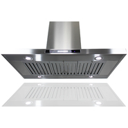 "AKDY 36"" European Style Island Mount Stainless Steel Range Hood Vent Touch Control GL9011-36 at Sears.com"