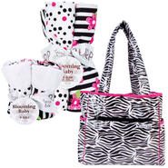 Trend-LabZahara Tulip Tote Diaper Bag & Bib/Burp Cloth Bundle at Kmart.com