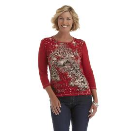Laura Scott Women's Christmas T-Shirt - Merry Christmas at Sears.com
