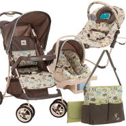 Cosco Super Safari Travel System, Diaper Bag & Bouncer Bundle at Kmart.com