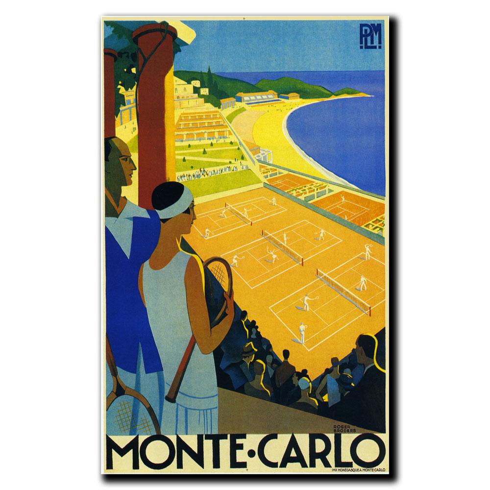 """Trademark Fine Art Roger Broders 'Monte-Carlo' 14"""" x 19"""" Canvas Art PartNumber: 02447464000P KsnValue: 02447464000 MfgPartNumber: V8108-C1419GG"""
