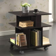 Baxton Warren Dark Brown Wheeled Modern Storage Shelf at Kmart.com