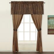 "United Curtain Company Leopard 84"" 5 Piece curtain set at Kmart.com"