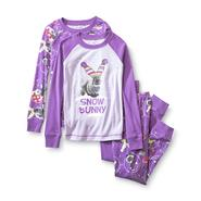 Joe Boxer Girl's 2-Pairs Graphic Pajamas - Snow Bunny at Kmart.com