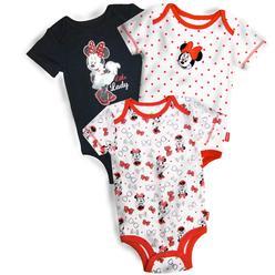 ba79ae4c0 Disney Minnie Mouse Infant Girl's 3-Pack Bodysuits