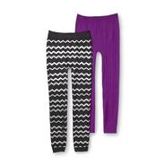 Piper Girl's 2-Pack Sweater Leggings - Foil Zigzag at Kmart.com