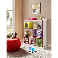 Altra Kids 3-Shelf Bookcase with 4 Bins - White at Sears.com