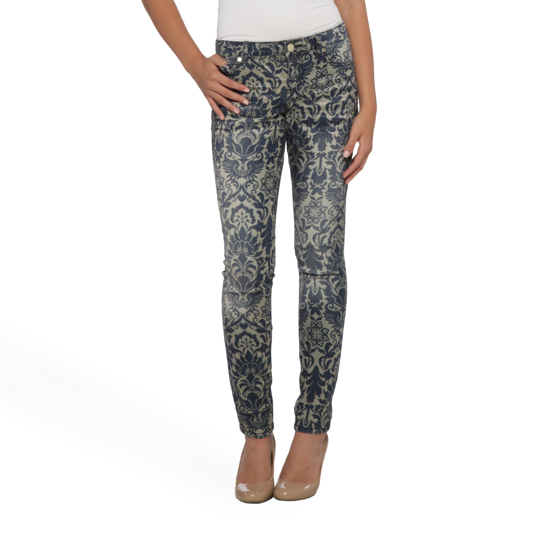 True Freedom Junior's Leggy Print Jeggings - Floral at Sears.com