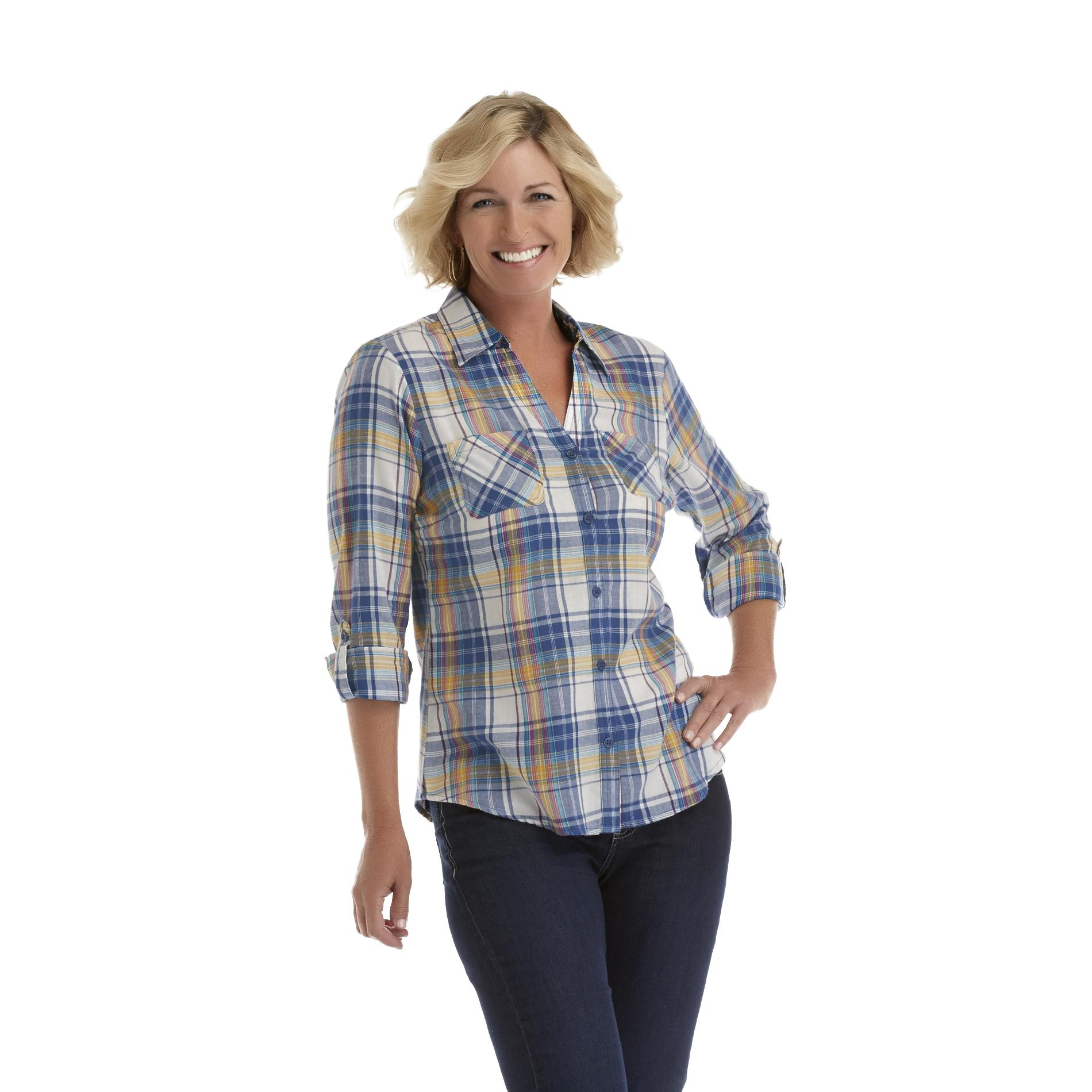 Laura Scott Women's Flannel Shirt - Plaid at Sears.com