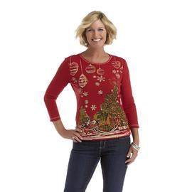 Laura Scott Women's Christmas T-Shirt - Tree at Sears.com