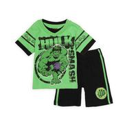 Marvel Hulk Toddler Boy's Layered-Look Shirt & Shorts Set at Sears.com