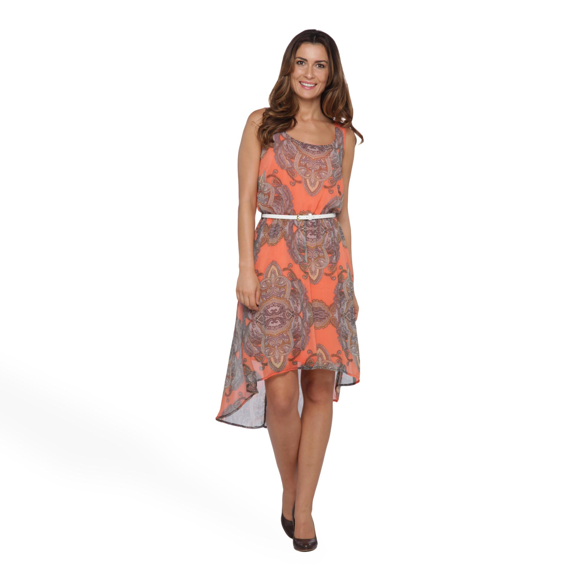 Halo Women's High-Low Dress & Belt - Medallion at Sears.com