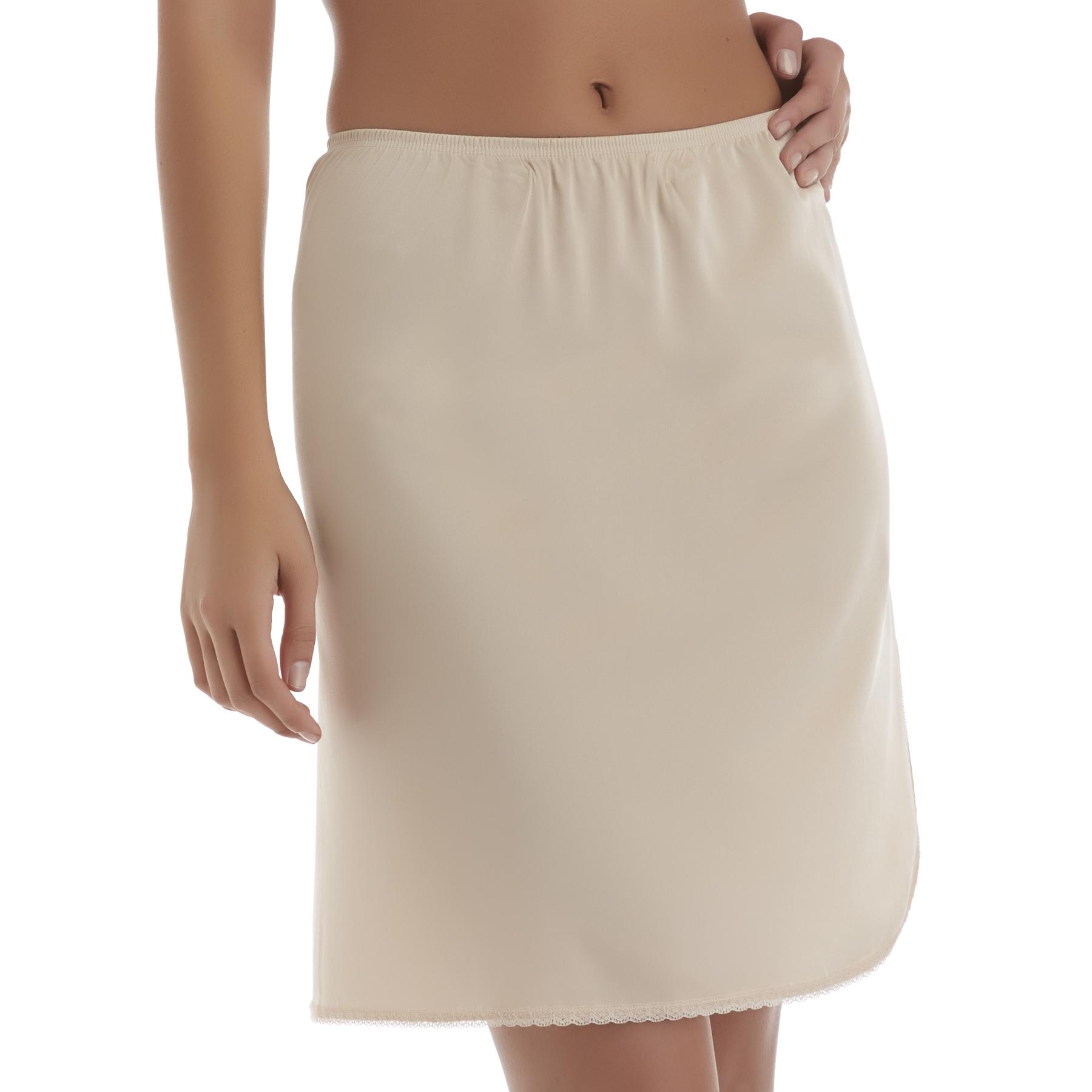 Vanity Fair Women's Half Slip with Slit,  Size: Smal  Beige plus size,  plus size fashion plus size appare