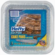 Hefty EX Foil 2 Pk Square Cake Pan with Lid at Kmart.com