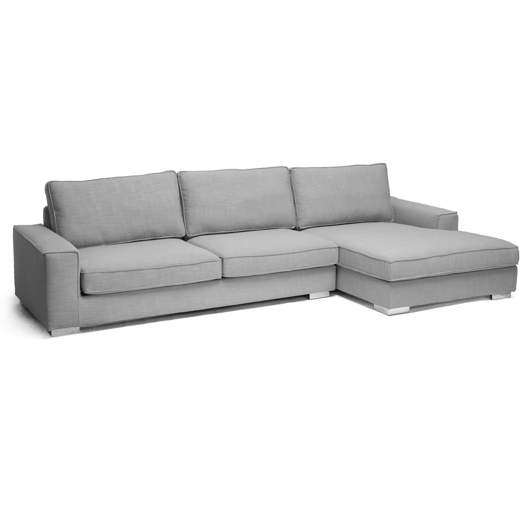 Sectional Sofa Grey Baxton Studio: Baxton Studio Brigitte Gray Modern Sectional Sofa