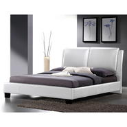 Baxton Sabrina White Modern Bed with Overstuffed Headboard – Full Size at Kmart.com