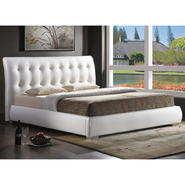Baxton Jeslyn White Modern Bed with Tufted Headboard - Queen Size at Kmart.com