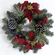 Sandra by Sandra Lee Merry Holiday 18in red poinsettia wreath at Kmart.com
