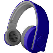 Hype FLAT CABLE FOLDING STEREO HEADPHONES- WITH DETACHABLE MICROPHONE - Blue at Kmart.com