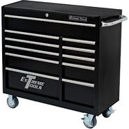 "Extreme Tools 41"" Deluxe 11 Drawer 24"" Deep Roller Cabinet in Textured Black at Kmart.com"