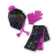 Joe Boxer Girl's Trapper Hat, Scarf & Gloves - Shining Star at Kmart.com