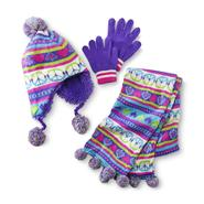 Joe Boxer Girl's Knit Hat, Scarf & Gloves - Peace & Love at Kmart.com