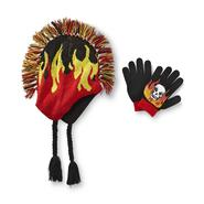 Joe Boxer Boy's Mohawk Hat & Gloves Set - Flames at Kmart.com