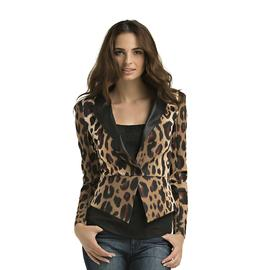 Kardashian Kollection Women's Ponte Blazer - Leopard Print at Sears.com