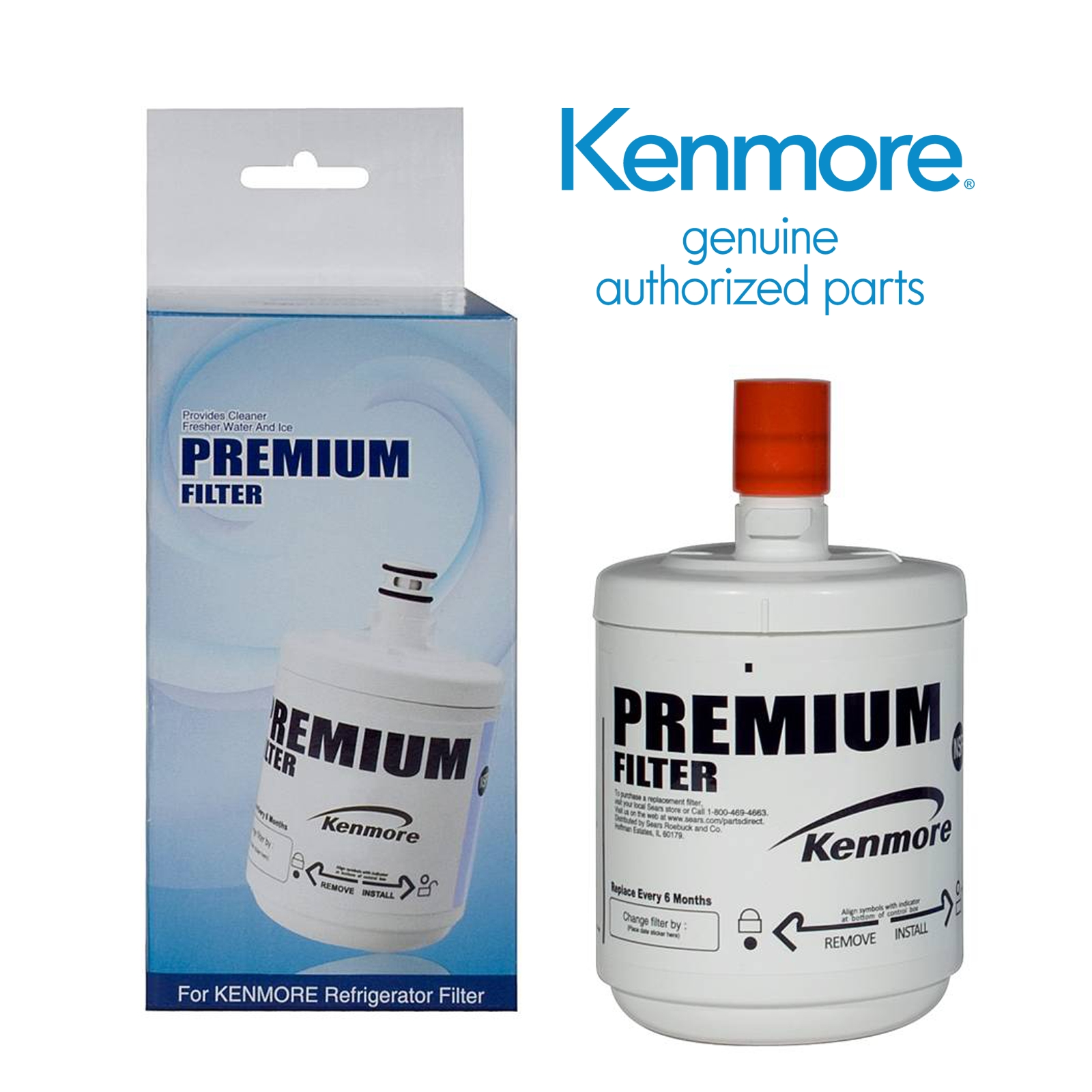 Kenmore 09890 Refrigerator Water Filter 500-Gallon Capacity