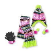 Joe Boxer Girl's Winter Hat, Gloves & Scarf - Tribal Owls at Kmart.com