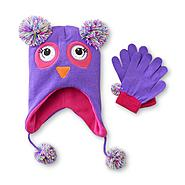 Joe Boxer Girl's Fleece Winter Hat & Gloves - Owl at Kmart.com
