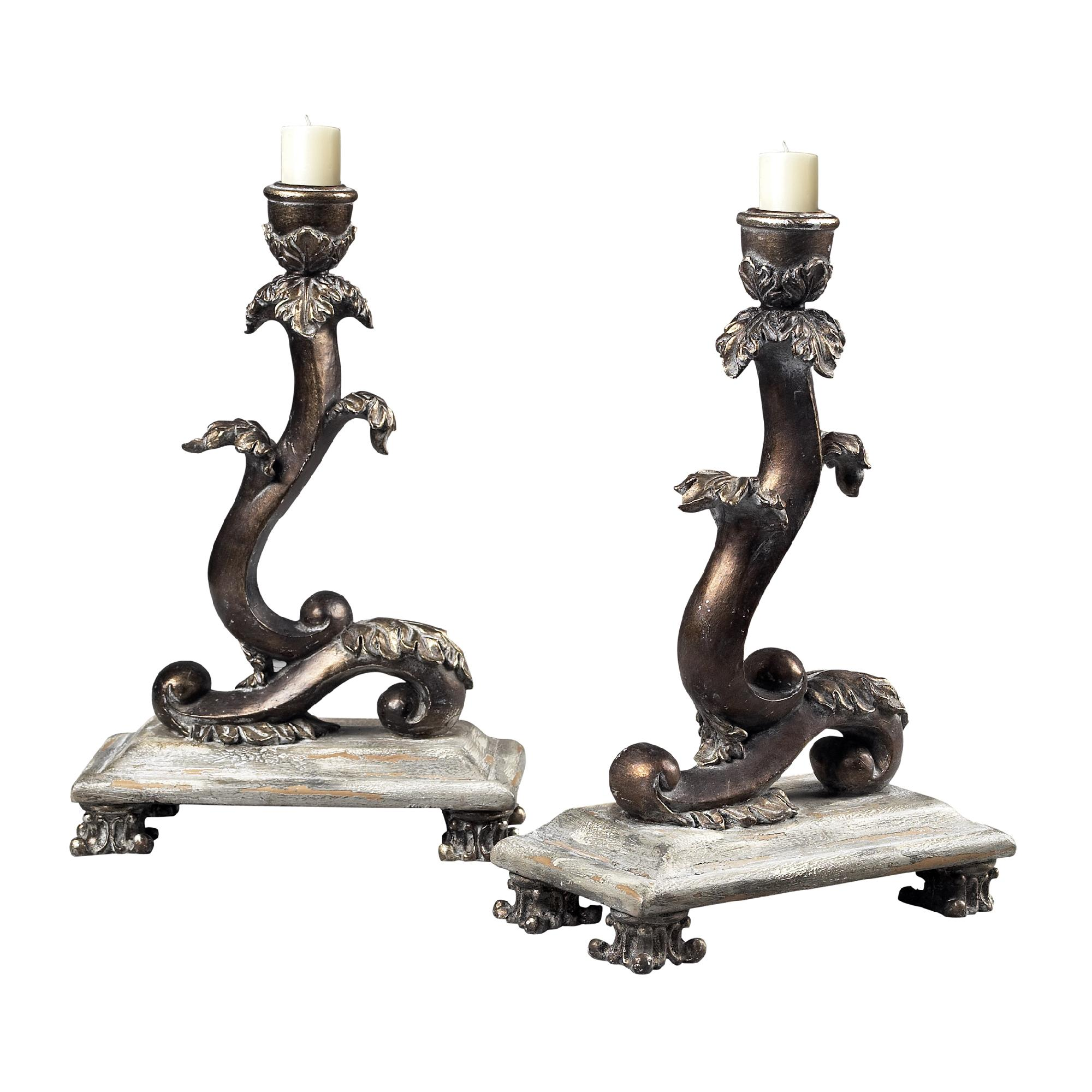Sterling Industries Set Of 2 Scroll Candle Holders