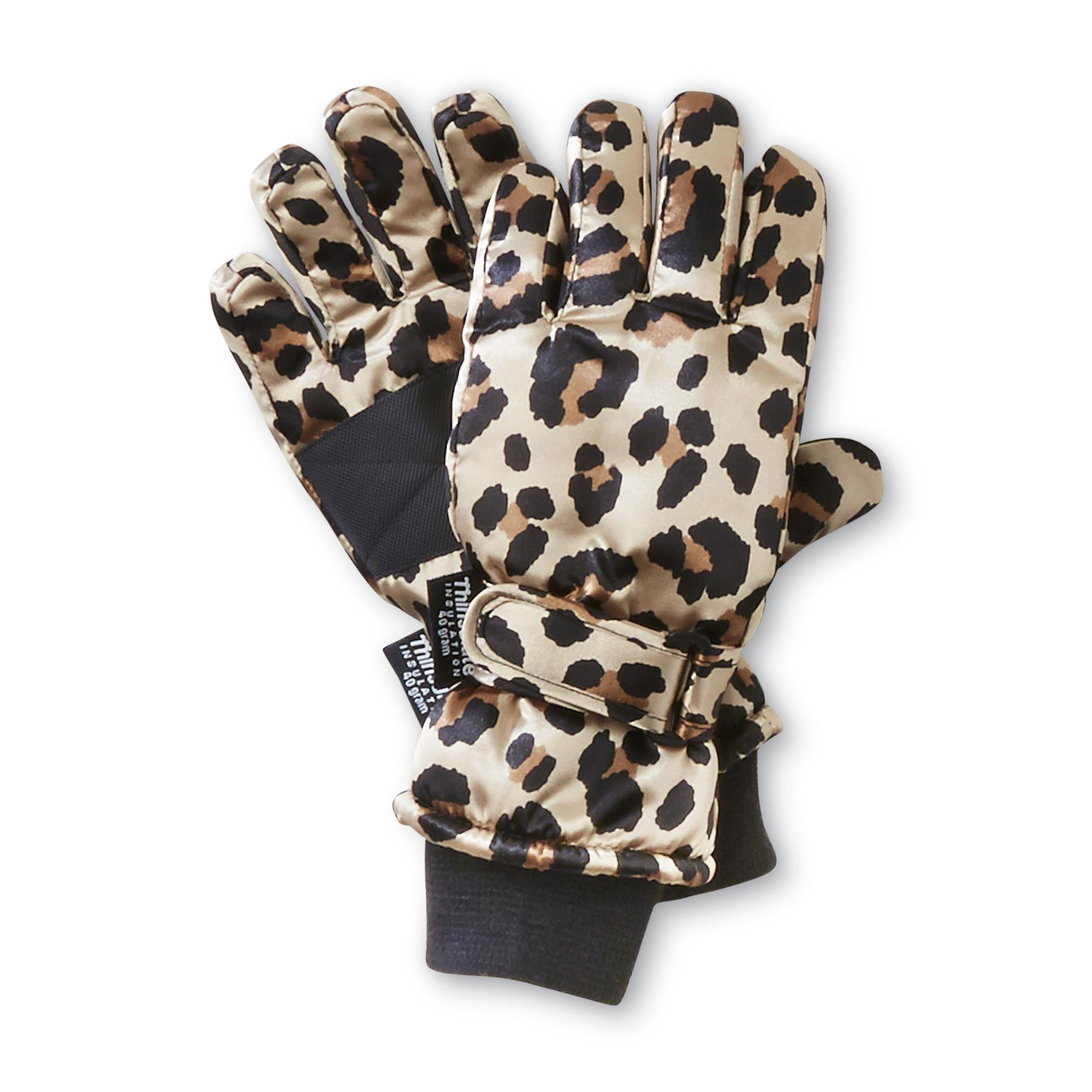 Joe Boxer  Girl's Satin Ski Gloves -