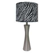 Simple Designs Brushed Steel Zebra Print Table Lamp at Kmart.com