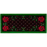 Poinsettia & Diamond Pattern Accent Rug at Kmart.com