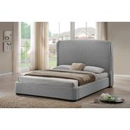 Baxton Sheila Gray Linen Modern Bed with Upholstered Headboard - Queen Size at Kmart.com