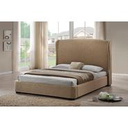 Baxton Sheila Tan Linen Modern Bed with Upholstered Headboard - King Size at Kmart.com