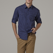 Adam Levine Men's Poplin Utility Shirt at Sears.com