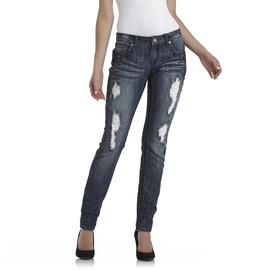 Bongo Junior's Distressed Skinny Jeans - Embellished at Sears.com
