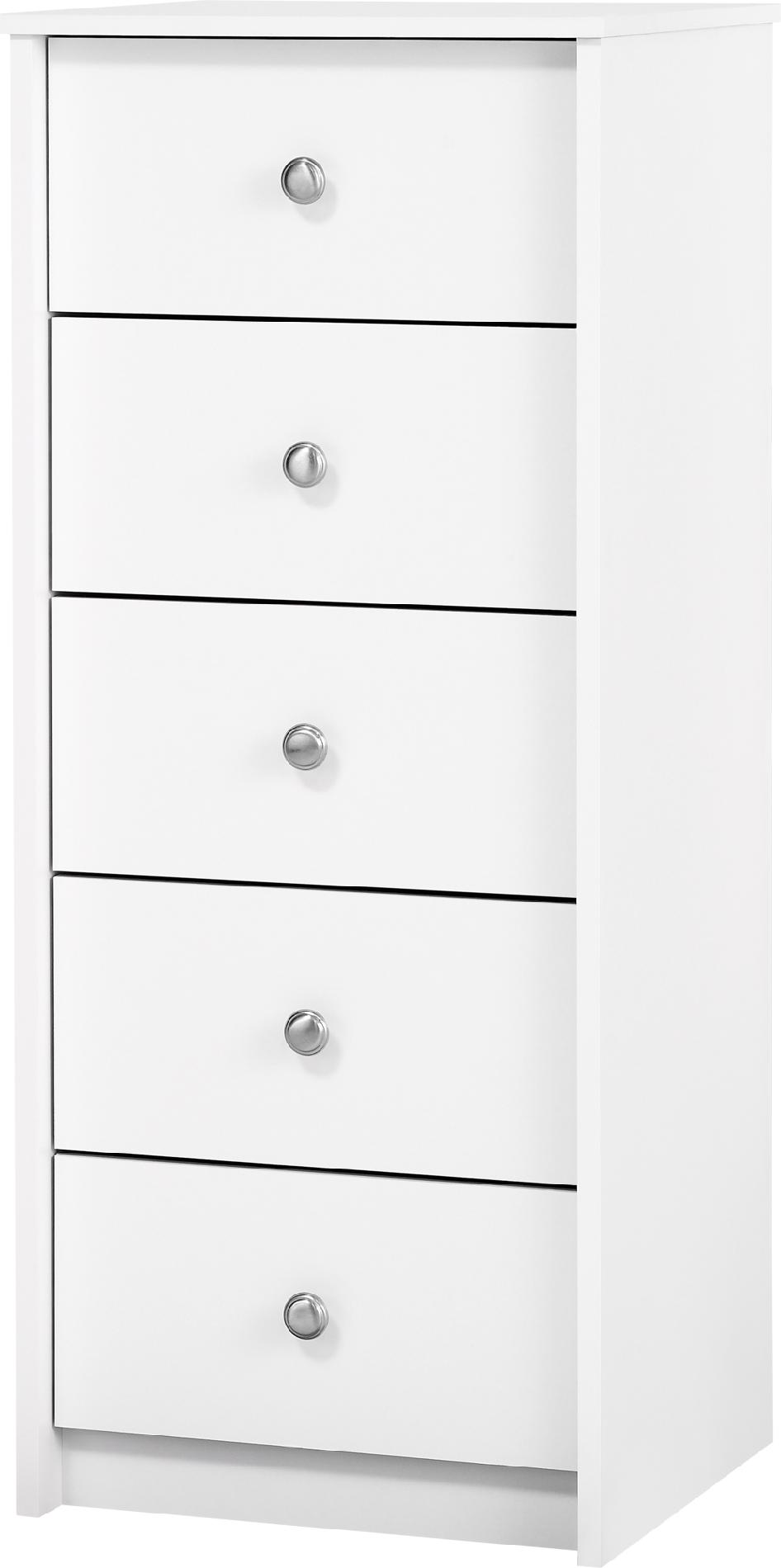 Belmont 5 Drawer Lingerie Chest - White